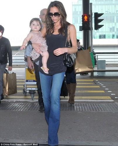 Victoria Beckham and Baby Harper