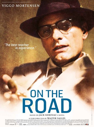 On the Road (Movie) Hintergrund with sunglasses called Viggo Mortensen is Old stier, bull Lee a.k.a. William Burroughs
