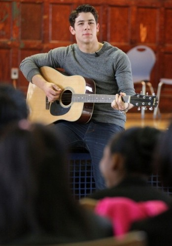 Visiting General D. Chappie James Middle School of Science at MS 634 in Brooklyn 4/27 - nick-jonas Photo