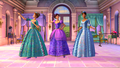 Viv, Ara and Renee in their fancy gowns - barbie-and-the-three-musketeers photo