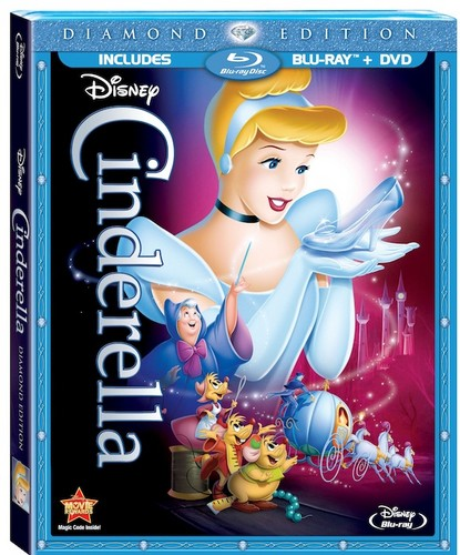 Walt Disney Blu-Ray Covers - Cinderella: Diamond Edition