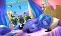 What princess Luna was doing all giorno