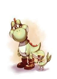 Yoshi and Snivy