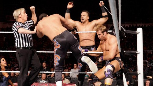Zack Ryder and Marella vs Epico and Primo