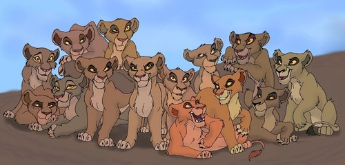 The Lion King wallpaper possibly containing anime entitled Zira's pride