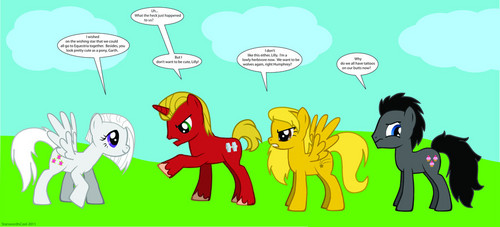 alpha and omega as ponies.