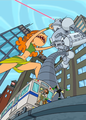 attack of the 50 ft izzy - total-drama-island fan art