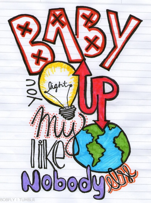 One Direction baby you light up my world like no body else