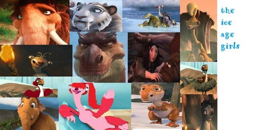 collage of the ice age girls