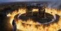 Drogo's pyre concept art