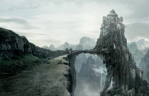 Game of Thrones wallpaper possibly with an alpinist and a crag titled The Eyrie concept art