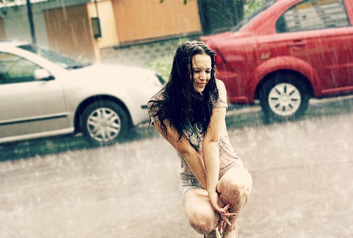 Beautiful Pictures wallpaper possibly with a bikini and a portrait titled feel the rain on your skin ♥