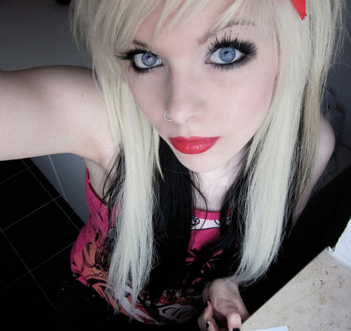 german, scene queen, Эмо girl, ira vampira, blond, black, hair