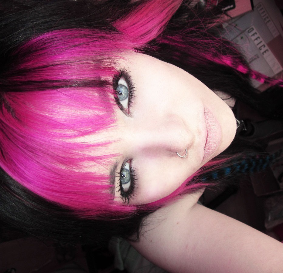 pink and black scene hair wwwimgkidcom the image kid