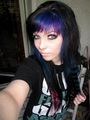 german, scene queen, emo girl, ira vampira, pink, purple, blue, hair, coontails, sitemodel - emo-girls photo