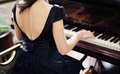 girl and piano - piano photo