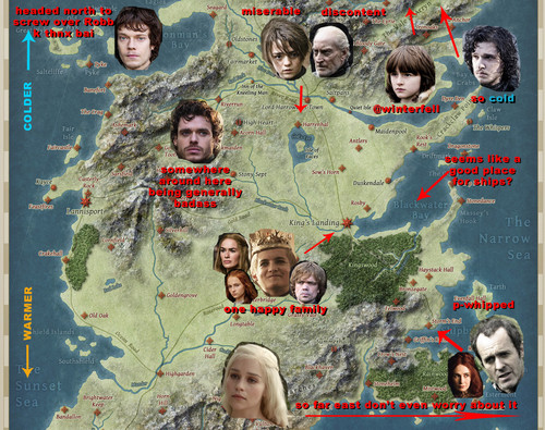 Game of Thrones karatasi la kupamba ukuta with anime called Game of Thrones Map