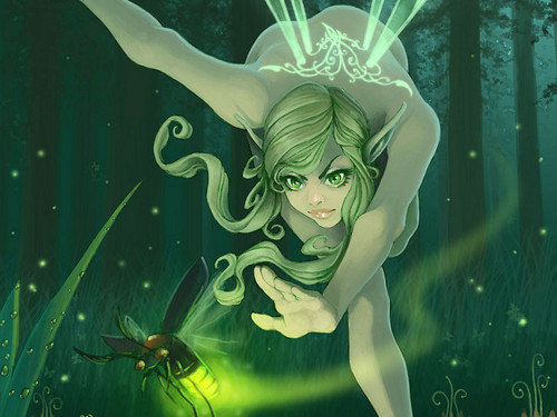 Fairies wallpaper titled green forest