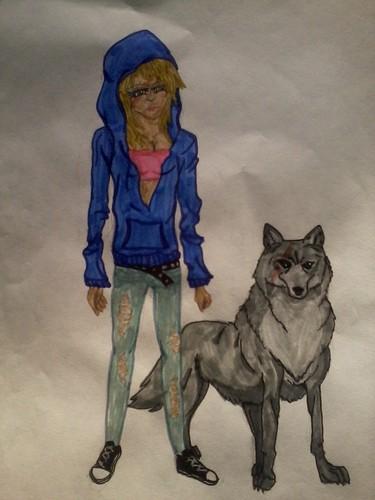 me in wolfs rain!