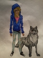 me in wolfs rain! - wolfs-rain fan art