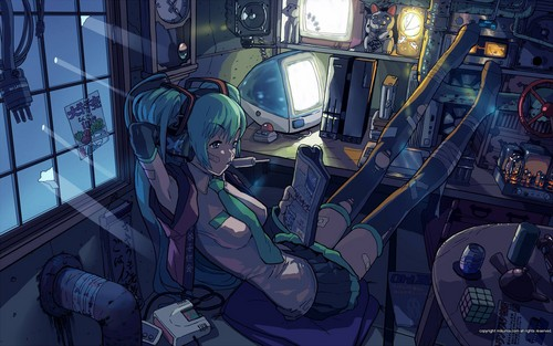 vocaloid hình nền containing an internal combustion engine called miku hatsune