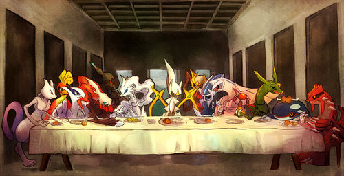 legendary pokemon - the last 晩餐, 夕食