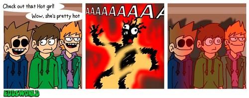 Eddsworld wallpaper with anime entitled randomstuf
