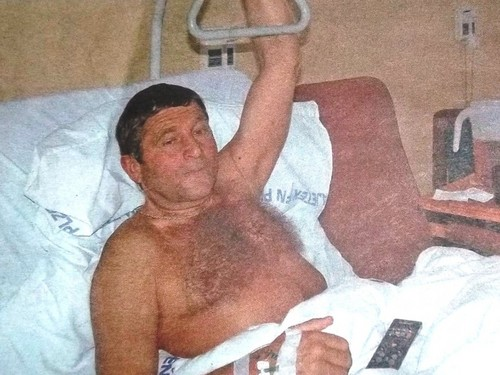 sexy jockey Josef Vana naked in hospital