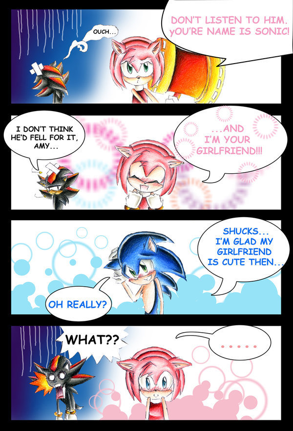 Sonic and Amy sonamy comic_sonic and amy