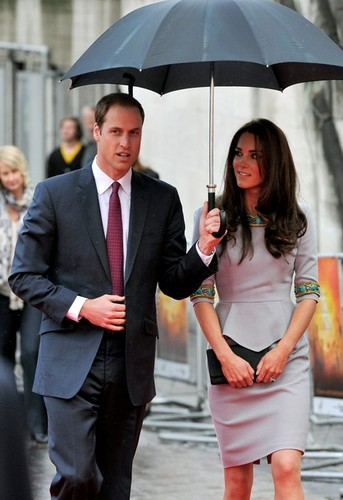 the Duke and Duchess of Cambridge attend the premiere of African Cats  - prince-william-and-kate-middleton Photo