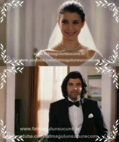 Fatmagül'ün Suçu Ne wallpaper containing a portrait titled the bride fatmagul  karim the bridegroom