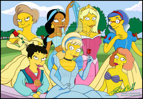 the simpsons didney princess