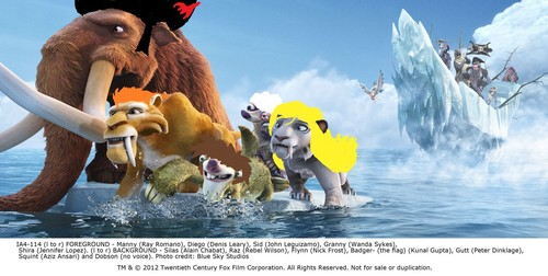 Ice Age Hintergrund entitled the wig herd