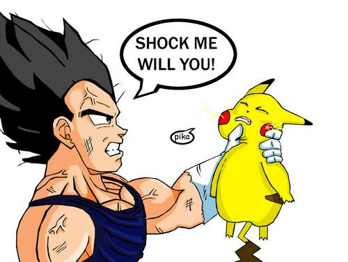 vegeta vs pokemon