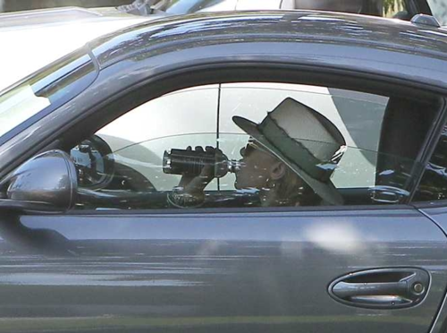 Ashley - Driving her Porsche in Beverly Hills, April 18, 2012