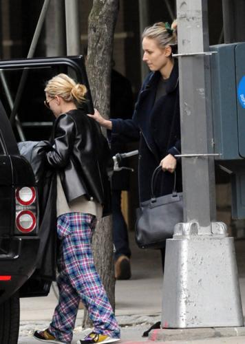 Ashley - Getting into her SUV in the West Village, New York,  April 10, 2012