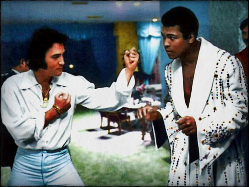 Elvis &amp; Muhammad Ali  - rakshasas-world-of-rock-n-roll Wallpaper
