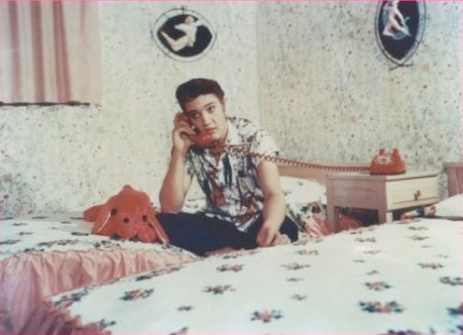 Elvis Presley wallpaper possibly with a twin bed, a bedroom, and a boudoir entitled ~Elvis~