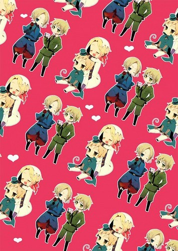 Yaoi wallpaper titled ~France x England~