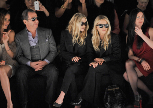Mary-Kate & Ashley - Attend the J.Mendal Fall 2012 fashion show, February 15, 2012