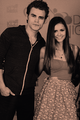 Paul and Nina | BloodyNightCon, Spain | May 5, 2012. - paul-wesley-and-nina-dobrev photo