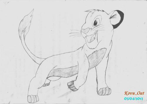 2nd Fanart Simba cub