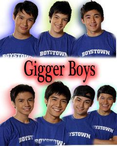 AJ and dance group Gigger Boys