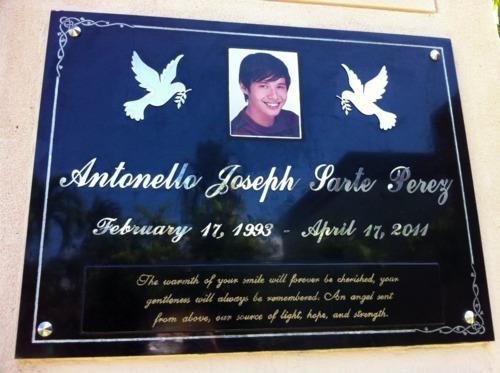 AJ's grave