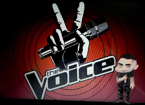 The Voice wallpaper probably with a sign and a wicket called Adam Levine Chibi