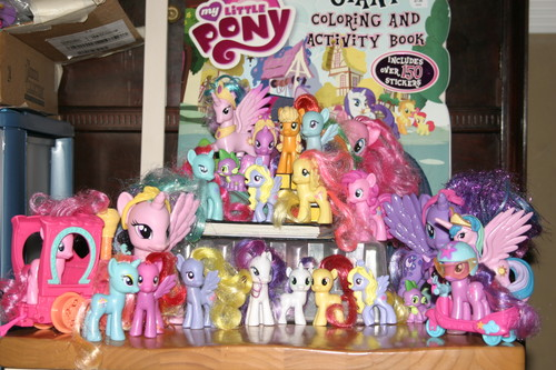 My Little Pony Friendship is Magic wallpaper titled All My Pony Toys!!!!! :D