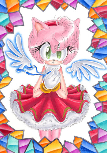 Sonic the Hedgehog wallpaper entitled Amy Rose Angel