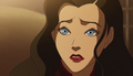 Asami with blue eyes
