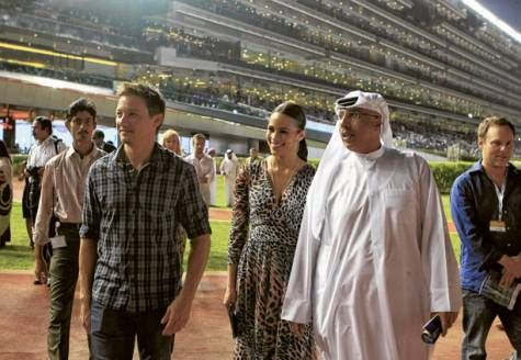 Attending horse races in Dubai(2010)