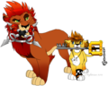 Axel And Roxas Lion